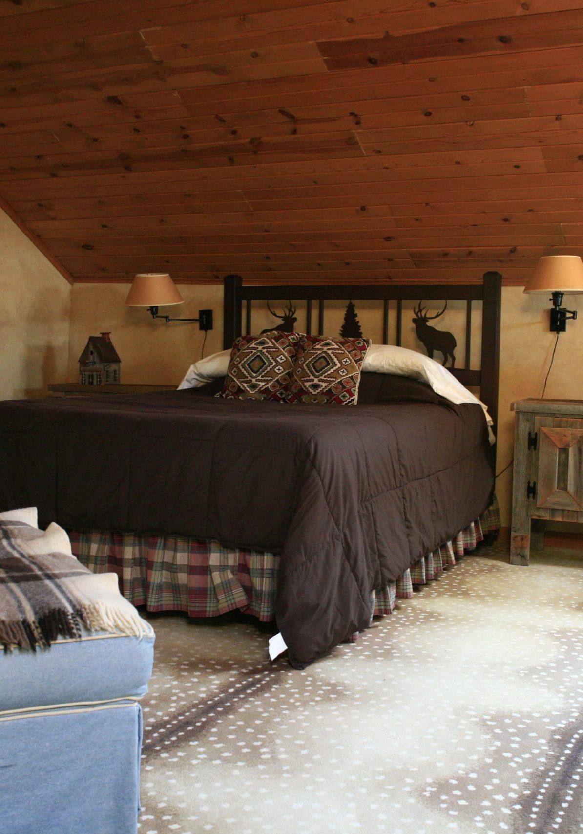 Caribou Cottage Loft Bedroom
